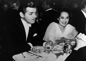 The one who was wildly successful at passing. No, not Gable:Hollywood star Merle Oberon (1911-1979) with Clark Gable (1901-1960) in 1939.