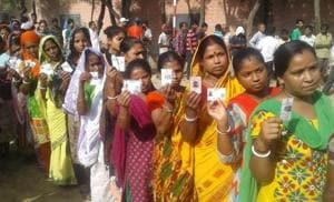 The voting commenced at 8 am and will continue till 4 pm.