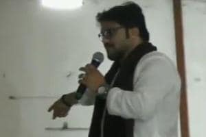 Union minister BabulSupriyo was at an event organised to donate wheelchairs and other equipment for the differently-abled