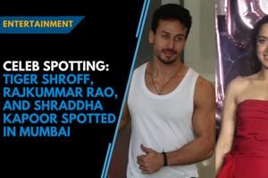Celeb Spotting: Tiger Shroff, Rajkummar Rao and Shraddha Kapoor spotted...