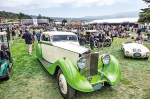 Amir Jetha's restored 1935 Rolls Royce Phantom II Continental Coupe was adjudged best Rolls in the show