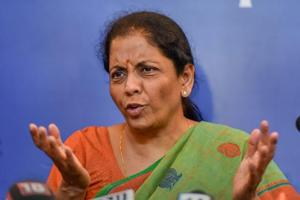 Defence minister Nirmala Sitharaman addressing a press conference in New Delhi on September 18, 2018.