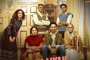 Badhaai Ho song Badhaaiyan Tenu shows the family's embarrassment as the middle-aged mother, played by Neena Gupta, gets pregnant.