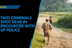 Two criminals wanted for six murders shot dead in encounter with UP police...