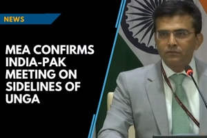 MEA confirms meeting between EAMs of India, Pakistan on sidelines of UN...