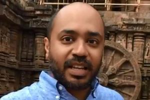 A Odisha police team from Konark arrived at Delhi's Nizamuddin police station with an arrest warrant against Abhijit Iyer-Mitra accusing him of deliberate and malicious acts intended to outrage religious feelings.