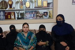 Farhat Naqvi (in centre) runs an NGO which works for the rehabilitation of divorced Muslim women and triple talaq victims across the country. She hailed Centre's decision to bring an ordinance criminalising the practice as 'a historic day'.
