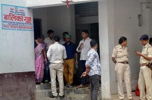 CBI officials at the Muzaffarpur shelter home, where 34 minor girls were allegedly raped.