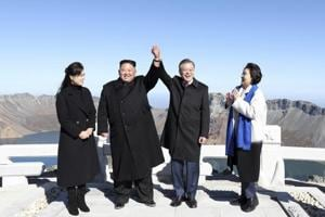Photos: Politics, pride behind trip to North Korea's sacred Mount Paektu
