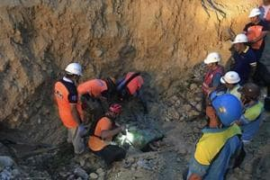 Security forces and rescue workers raced to uncover dozens feared trapped, in the latest of a series of deadly incidents in the past week.