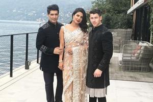 Priyanka Chopra and Nick Jonas at Lake Como for Isha Ambani's engagement.