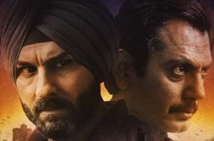 Nawazuddin Siddiqui and Saif Ali Khan in the poster for Netflix's Sacred Games.