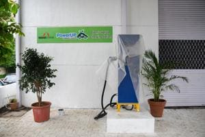 E-vehicle charging station in Baner.