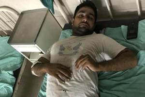 Parveen Singh, who is a bouncer in a resto-bar in Sector 29, was shot in his left leg on Wednesday night.