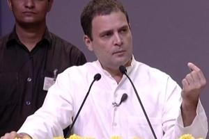 Congress president Rahul Gandhi during an interactive session with professors, in New Delhi.