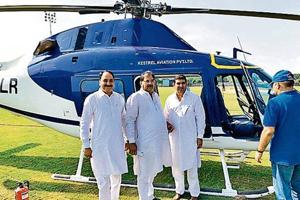 Pictures of the INLD leader, flanked by his party members after the emergency landing, were posted on social media.
