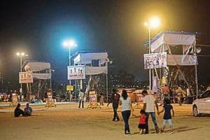As the city gears up for Anant Chaturdashi, security has been beefed up across the city. The Mumbai police have begun preparations at Girgaum Chowpatty for Sunday.
