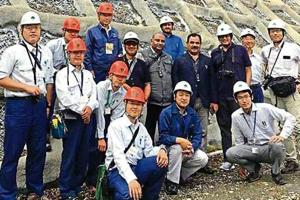 A team ofJapanese experts that is carrying out surveys at three places in Uttarakhand.