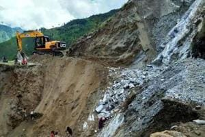 Landslides are common in the hills of north Bengal and Sikkim especially during the monsoons.