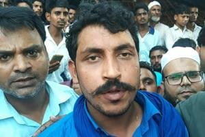 Bheem Army chief Chandrashekhar Azad after being released from Saharanpur Jail, in Saharanpur, Friday, September 14, 2018.