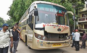 Private buses plying between Delhi and Bihar has become the lifeline for lakhs of migrants who often struggle to reserve train tickets.