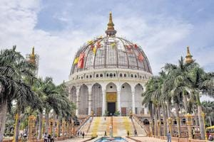 Construction of a dome at MIT in Loni kalbhor is in the final phase of its construction in Pune.