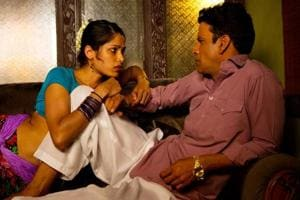 Freida Pinto and Manoj Bajpayee in a still from Love Sonia.