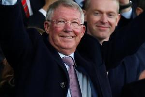 Sir Alex Ferguson in the stands before the match between Manchester United and Wolverhampton Wanderers.