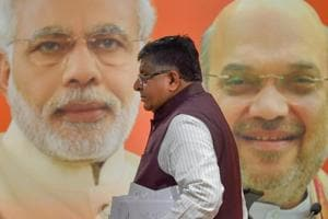 Union law minister Ravi Shankar Prasad after addressing the media in New Delhi, on September 22, 2018.