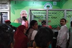 Patients at an Ayushman Bharat counter at RIMS in Ranchi.