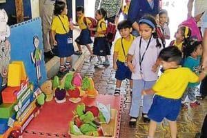 Preschools under the Podar Jumbo Kids umbrella encourage students to play games on nutrition.