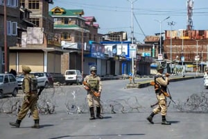Police have launched a manhunt to trace a 45-year-old man who was abducted by a group of militants late Saturday night in north Kashmir's Sopore town.