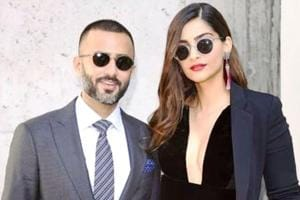 Sonam Kapoor and Anand Ahuja didn't leave each other's side at Giorgio Armani's spring/ summer 2019 show at Milan FashionWeek. (Instagram)