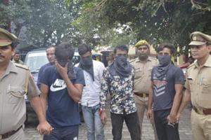 The arrested were identified as Pawan Kumar, Karan Sharma, Sanjay Pati and Vivek alias Bhurri from Rana Chowk in Khoda.