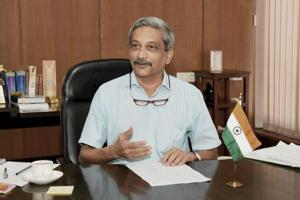 Goa Chief Minister Manohar Parrikar in his office in Panaji.
