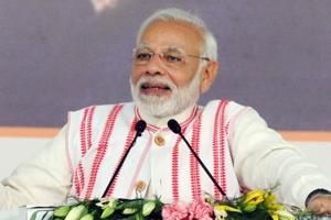 Prime Minister Narendra Modi addresses the gathering as he launches Ayushman Bharat-National Health Protection Schemein Ranchi. Prime Minister Narendra Modi on Monday will inaugurate Pakyong airport, about 30km from state capital Gangtok.