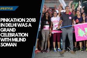 Pinkathon 2018 in Delhi was a grand celebration with Milind Soman