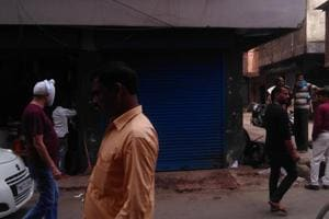 The place in Imphal where an explosion injured six persons on Monday.