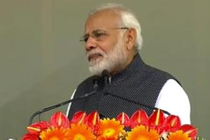 Prime Minister Narendra Modi after inaugurating the Pakyong airport in Sikkim.