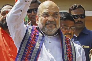 BJP president Amit Shah said the Congress and all opposition parties are working together for breaking India while PM Narendra Modi is busy in making India.
