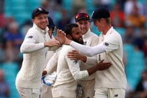 Adil Rashid (centre) made a comeback into the England Test squad for the series against India.
