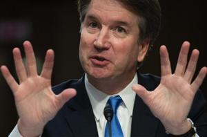 US Supreme Court nominee Brett Kavanaugh speaks on the second day of his confirmation hearing in front of the US Senate in Washington DC.