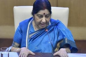 External affairs minister Sushma Swaraj attended the Global Call to Action on the World Drug Problem chaired by US President Donald Trump.