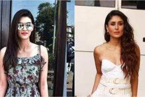 Kriti Sanon spotted at a restaurant and Kareena Kapoor spotted at a shoot.