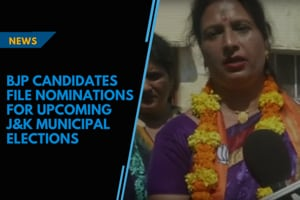 BJP candidates file nominations for upcoming J&K municipal elections