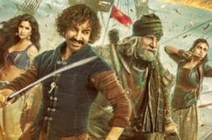 Thugs of Hindostan first poster: Aamir Khan, Katrina Kaif, Amitabh Bachchan and Fatima Sana Shaikh are in the middle of a battle.
