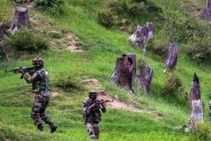 The official said the search operation turned into an encounter after the militants opened fire on security forces, army said.