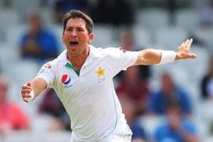 File image of Yasir Shah in action for Pakistan during a Test match.