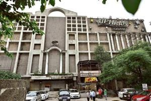 A view of the Uphaar cinema's property at Green Park in New Delhi, India, on Wednesday, September 5, 2018.