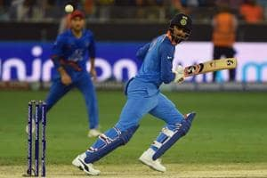 Indian batsman Lokesh Rahul plays a shot during the one day international (ODI) Asia Cup cricket match between Afghanistan and India at the Dubai International Cricket Stadium in Dubai